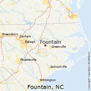 Fountain,North Carolina Map