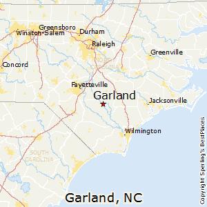 Garland nc zip code