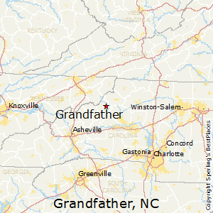 Grandfather,North Carolina Map