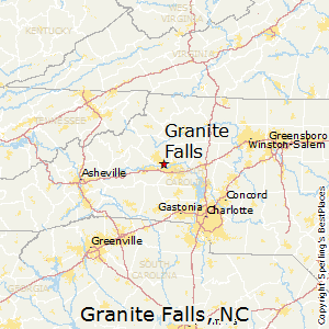 Granite_Falls,North Carolina Map