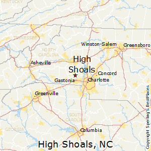 High_Shoals,North Carolina Map
