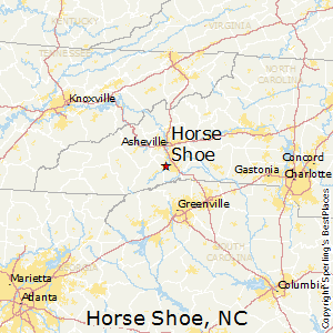 Horse_Shoe,North Carolina Map