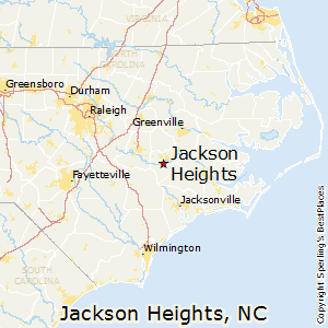 Jackson_Heights,North Carolina Map
