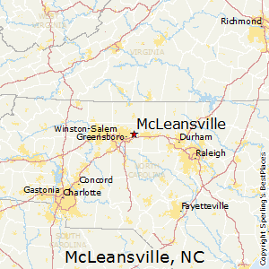 McLeansville,North Carolina Map