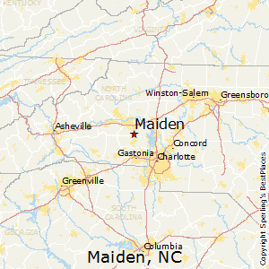 Maiden,North Carolina Map