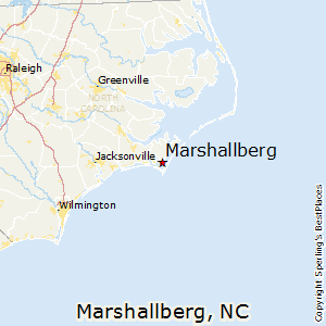 Marshallberg,North Carolina Map