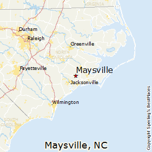 Maysville,North Carolina Map