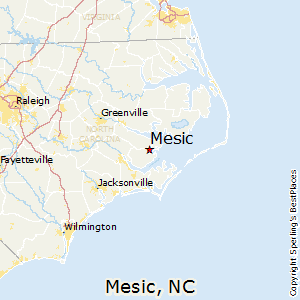 Mesic,North Carolina Map