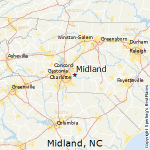 Midland,North Carolina Map