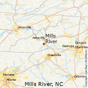 Mills_River,North Carolina Map