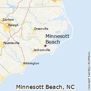Minnesott Beach North Carolina Map