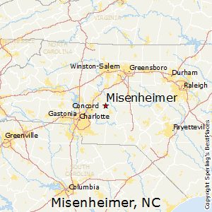 Misenheimer,North Carolina Map