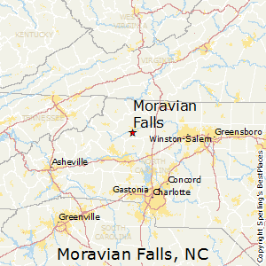 Moravian_Falls,North Carolina Map