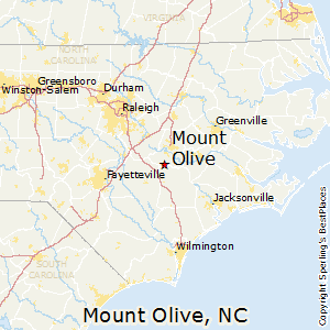 Mount_Olive,North Carolina Map