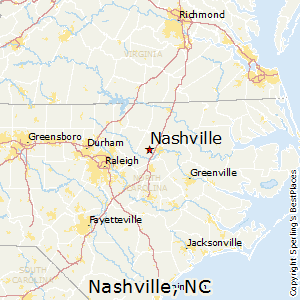 Nashville,North Carolina Map