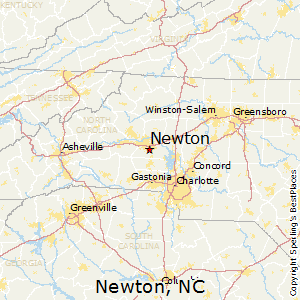 Newton,North Carolina Map