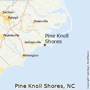 Pine_Knoll_Shores,North Carolina Map