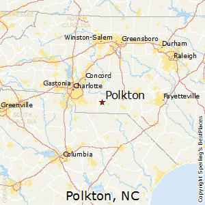 Polkton,North Carolina Map