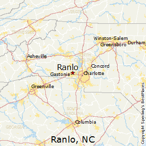 Ranlo,North Carolina Map