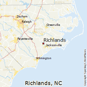 Richlands,North Carolina Map