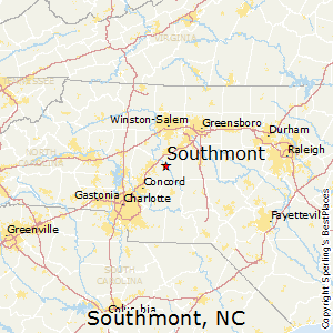 Southmont,North Carolina Map