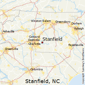 Stanfield,North Carolina Map