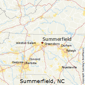 Summerfield,North Carolina Map