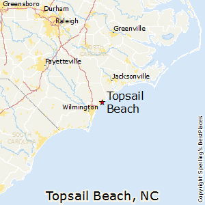 Topsail_Beach,North Carolina Map