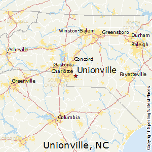 Unionville,North Carolina Map