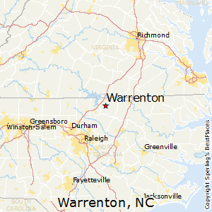 Warrenton,North Carolina Map