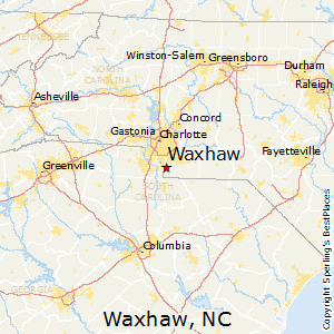 Waxhaw,North Carolina Map