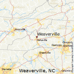 Weaverville,North Carolina Map