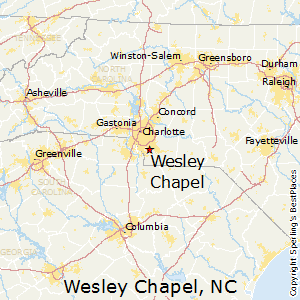 Wesley_Chapel,North Carolina Map