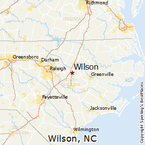 Wilson,North Carolina Map