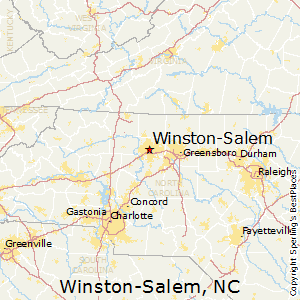 winston salemnorth carolina map