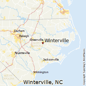 Winterville,North Carolina Map