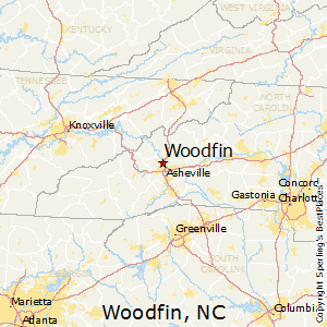 Woodfin,North Carolina Map