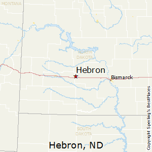 Hebron,North Dakota Map