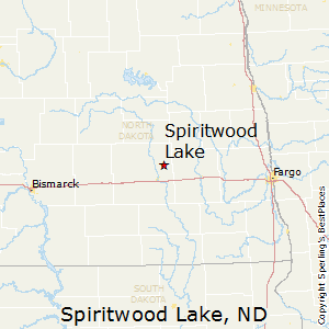Spiritwood_Lake,North Dakota Map