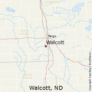 Walcott,North Dakota Map