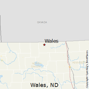 Wales,North Dakota Map