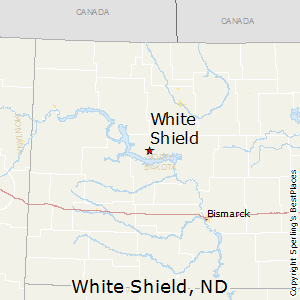 White_Shield,North Dakota Map