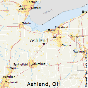 Ashland,Ohio Map
