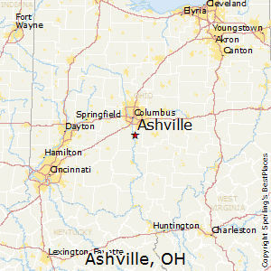 Ashville,Ohio Map