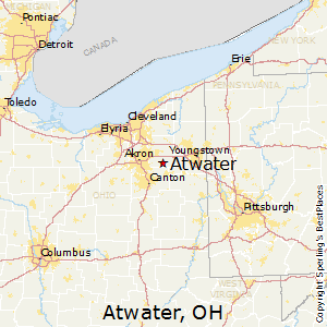 Atwater,Ohio Map