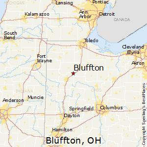 Comparison Bluffton Ohio Detroit Michigan