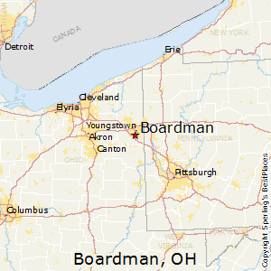 Boardman,Ohio Map