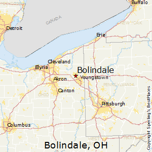 Bolindale,Ohio Map