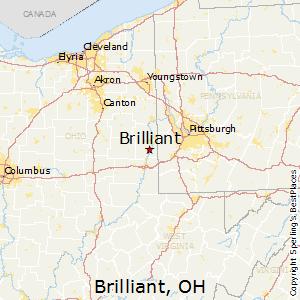 Brilliant Ohio Map.Best Places To Live In Brilliant Ohio