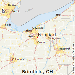 Brimfield,Ohio Map